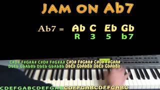 ab dominant seven ab7 ab c eb gb m m 60 jamtrack keyboard loop