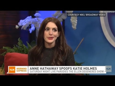 Hathaway's impressions hit the high notes on SNL