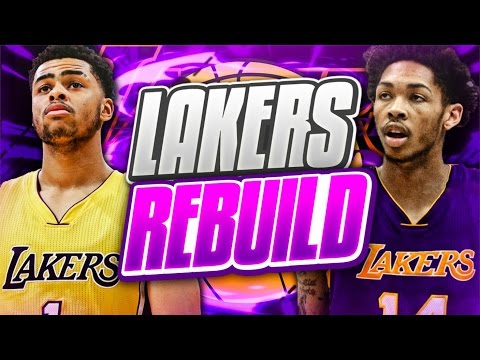 REBUILDING THE LOS ANGELES LAKERS! NBA 2K17 MY LEAGUE