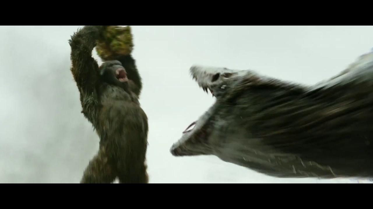 Kong Skull Island Kong Vs Skull Crawler Clip Youtube