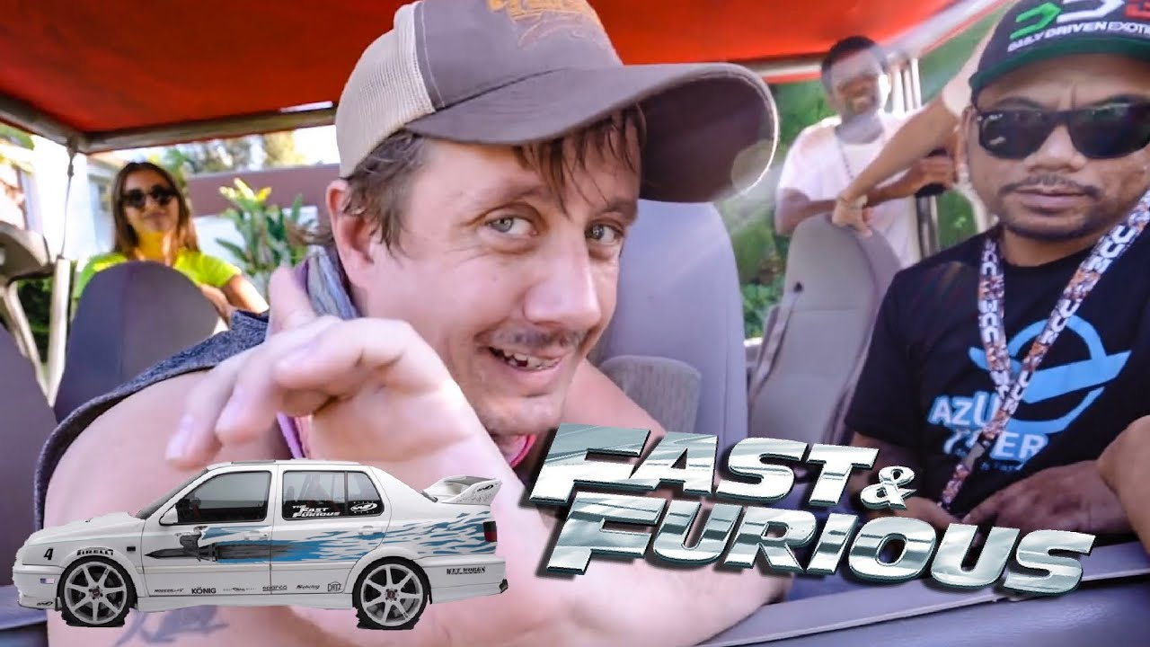"""""""JESSE"""" FROM FAST & FURIOUS SURPRISES HOLLYWOOD TOUR BUS!"""