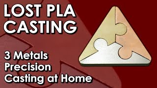 lost pla  PRECISION  casting at home - 3 metal casting challenge with Artbyadrock & BigstackD