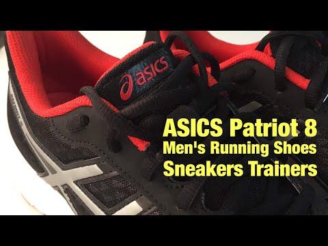 Got Got Got élégant et choix distingué. Asics Patriot 8 Noir Rouge Blanc Hommes Running Chaussures Baskets c1522e