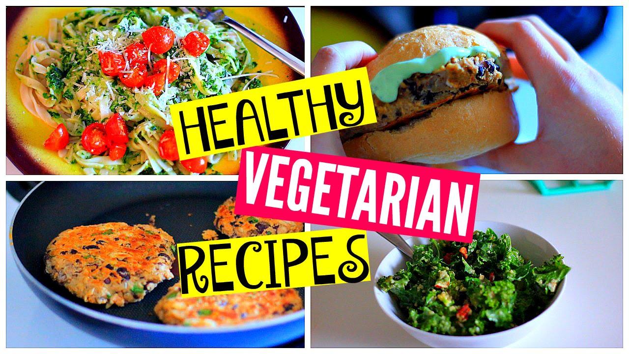 Healthy Vegetarian Dinner Recipes Kale Salad Burgers Pasta