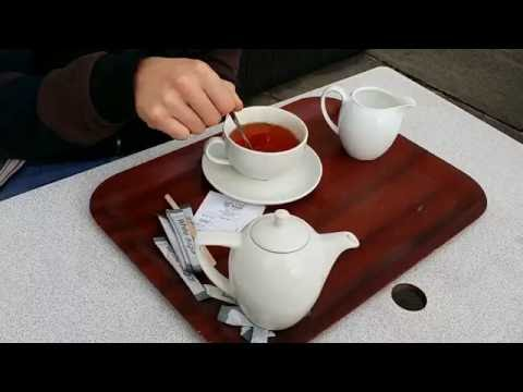 Drinking Tea at the Dublin Castle Cafe (Dublin, Ireland)