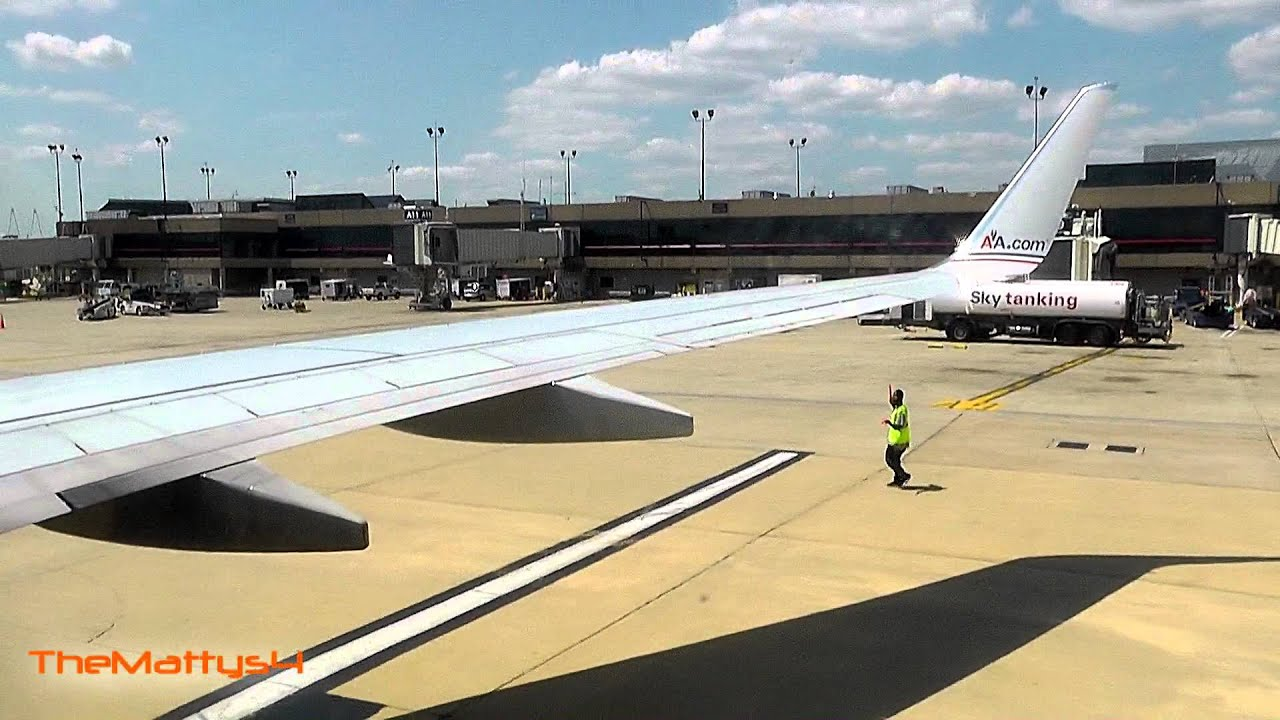 American Airlines 737 800 Taxi And Takeoff Philadelphia