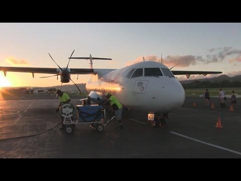 Air Vanuatu ATR72 Takeoff Port Vila Vanuatu