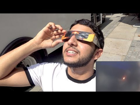 CATCHING THE SOLAR ECLIPSE IN NYC   Yousif Saleh