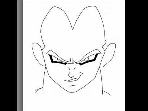 How To Draw Sketching Vegeta