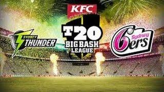 live bbl big bash league sydney thunders vs sydney sixes 2016 2017