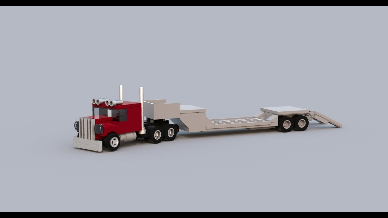 lego mini truck with platform trailer youtube. Black Bedroom Furniture Sets. Home Design Ideas