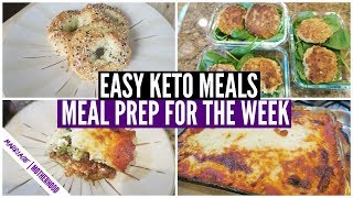 EASY KETO MEALS 🍳🥓 Meal Prep and Cook with me for the WEEK!