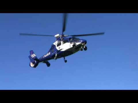 Police Airwing at Sorrento Rescue Helipad - nice take off!