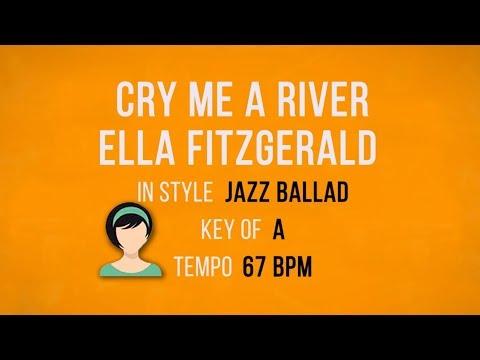 Cry Me a River - Julie London - Karaoke Female Backing Track