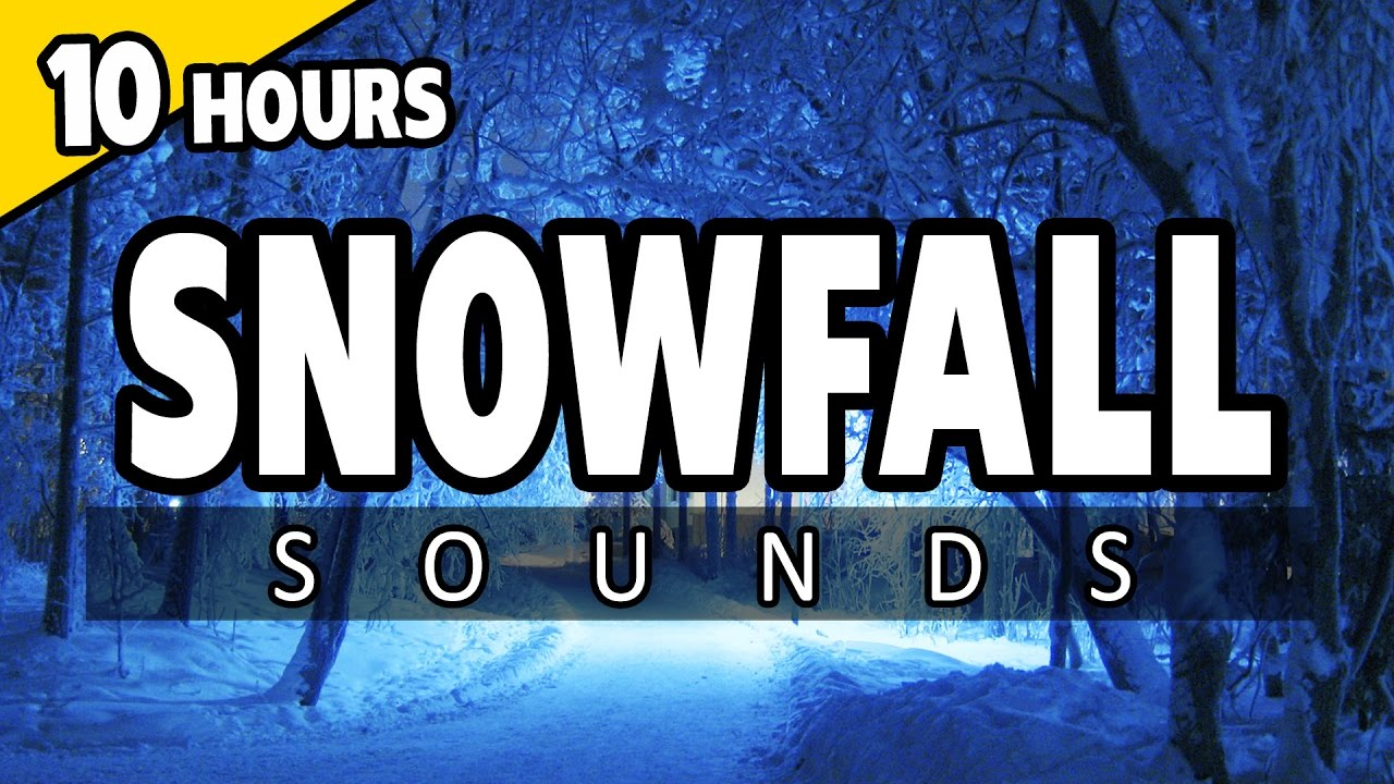 🎧 SNOWFALL Sounds - SNOW STORM and BLIZZARD SNOW SOUNDS for Sleep,  relaxation
