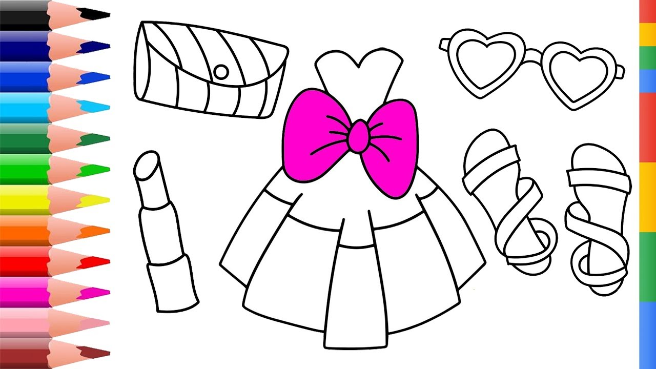 Draw Prom Accessories Coloring Pages For Girl