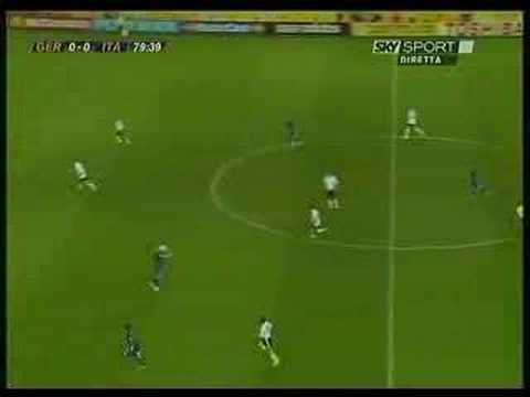 Totti Germany-Italy overturned pass