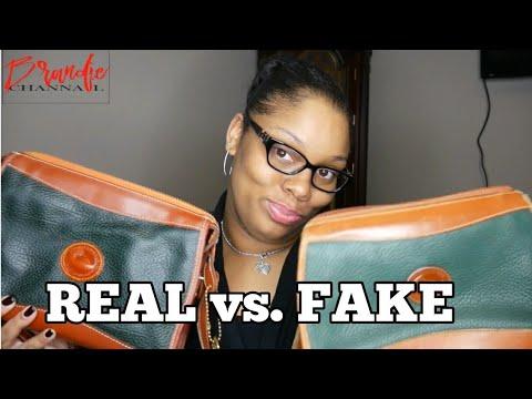 Vinatage Dooney & Bourke Comparison   Real vs. Fake