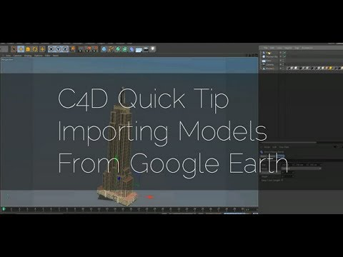 Cinema 4D Tutorial - Import free models from Google Earth