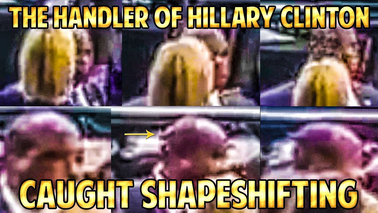 PART 1 - HILLARY CLINTON CLONE HANDLER Caught SHAPESHIFTING on 9-11 MEMORIAL