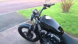 Harley XL1200n with Italian QD slip ons