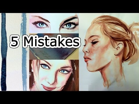 Watercolor Tips to Improve Paintings - 5 Beginner Mistakes
