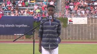 Angelis Hunt Sings Bermuda is Another World: Natwest Island Games 2013
