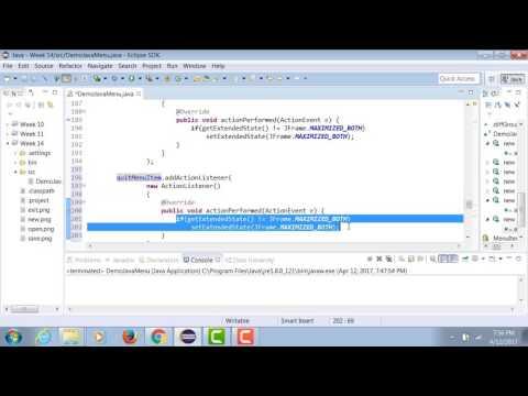 Java - Creating Popup Menu
