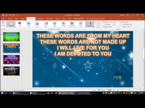 Effective PowerPoint Teaching for church Praise n worship