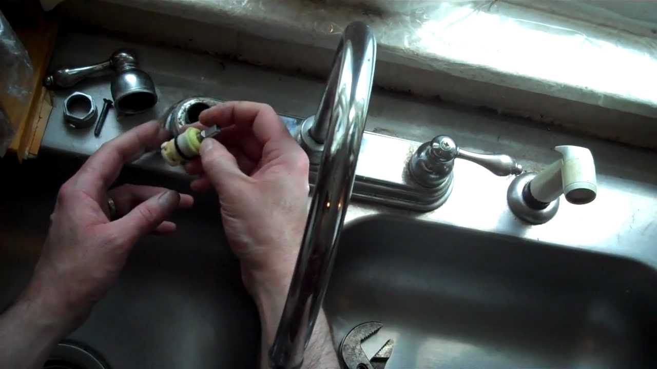 How To Replace The Washer And Spring On A Delta Style Sink