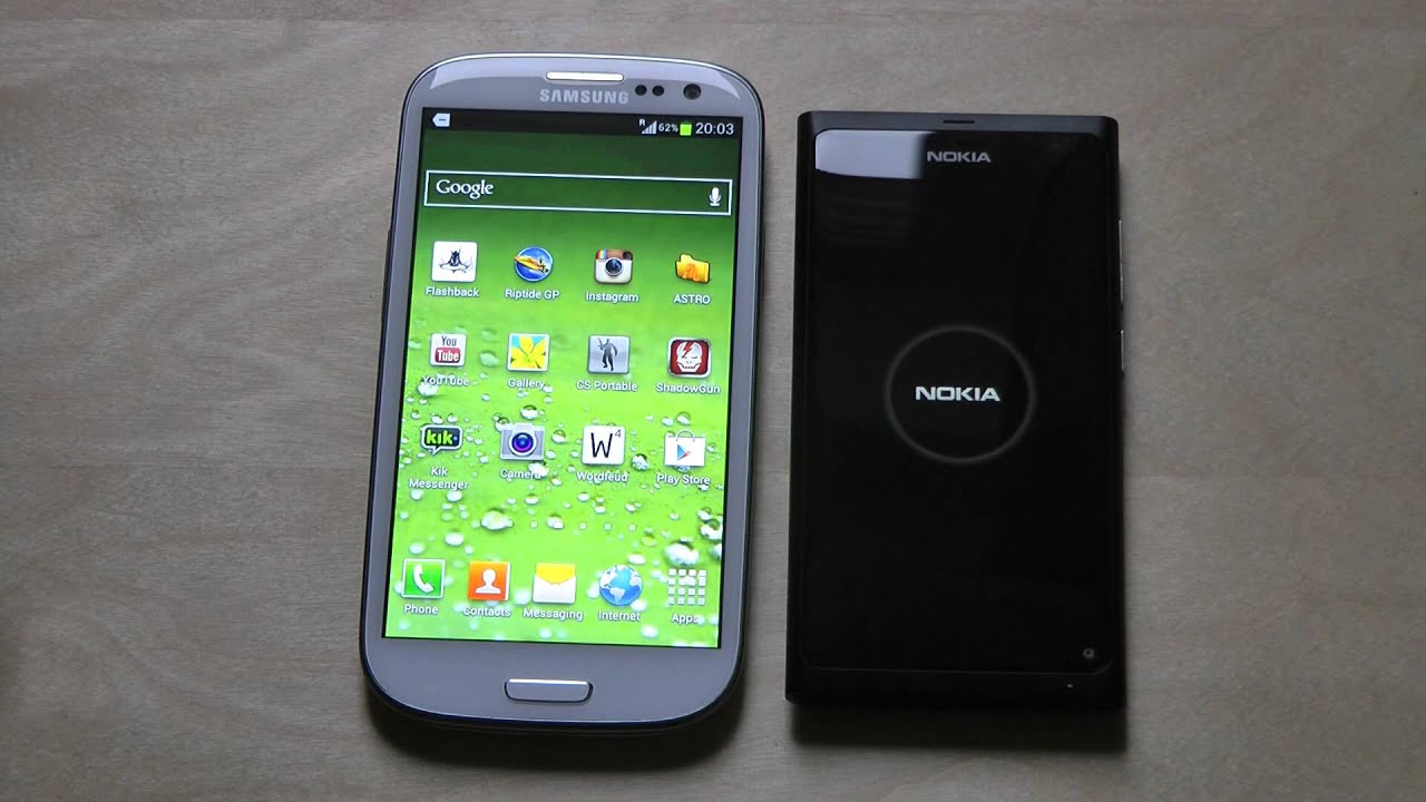 Samsung Galaxy S3 vs. Nokia N9 Boot Up Test First Hands-On ...