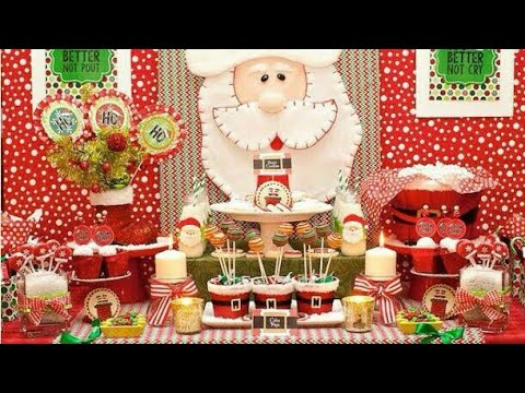 30 mesas de dulces navide a christmas decoracion navide a for Decoracion para mesa dulce