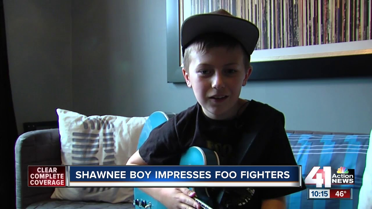 Shawnee 10-year-old, Collier Rule, shreds on stage with Foo Fighters