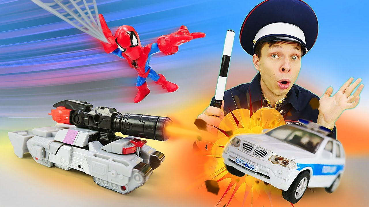 Игры для мальчиков - Трансформеры против Полицейских машин ...