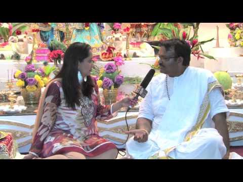 Pandit Rajin Balgobind Interview At Sri Krishna Mandir (New Amsterdam, Guyana)