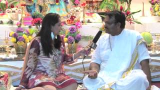 Pandit Rajin Balgobind Interview At Sri Krishna Mandir (New Amsterdam, Guyana)