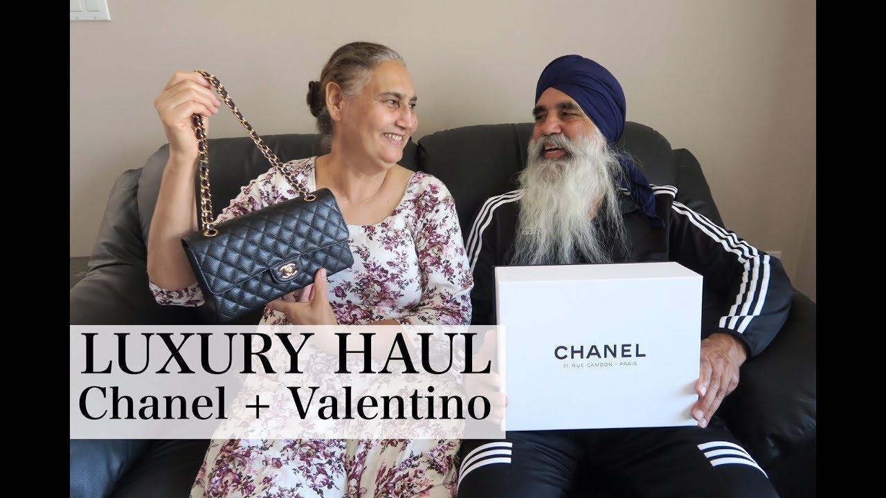LUXURY HAUL WITH MY INDIAN PARENTS | CHANEL + VALENTINO | keepingupwithmona