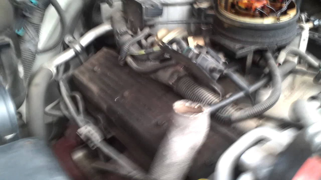 89 chevy 5 7 knock sensor location