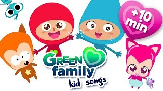 Nursery Rhymes and Kids Songs compilation | Cartoons for kids | Green Family