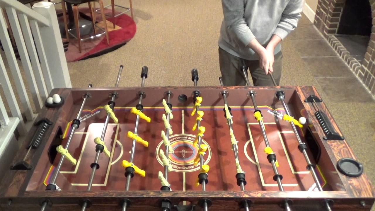 Sick Foosball Trick Shots On A Tournament Soccer Table YouTube - Tournament soccer foosball table