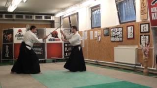 22  jo kata partner practise  jo -ken ( staff vs boken) [TUTORIAL] Aikido advanced weapon technique