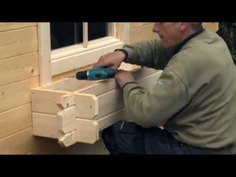 blumenkasten von wolff finnhaus montieren youtube. Black Bedroom Furniture Sets. Home Design Ideas