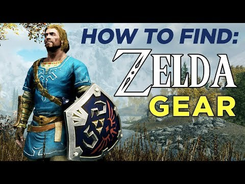How To Find ZELDA Items In SKYRIM on Switch!