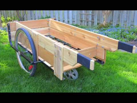 Garden Cart Wheels I Garden Cart With Wheels and Seat YouTube