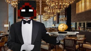he wanted to be my minecraft butler...?