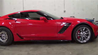 Picking up the new C7 Z06 with 15 in Drag Radials!