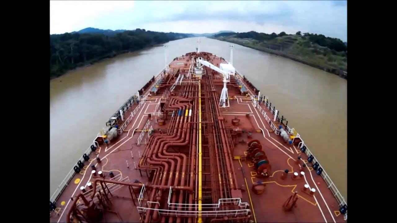 Image result for Time Lapse Panama canal full transit in 4 minutes. Navigation bridge view