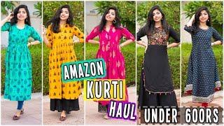 Amazon Kurti Haul Under 600 RS | College/Office Wear Kurtis