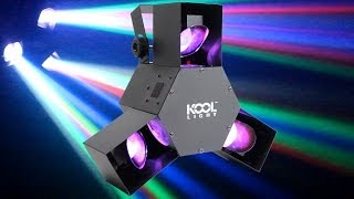 Kool Sound TRISCAN LED Party Scanner Light DJ Party Professional Club Stage Effect