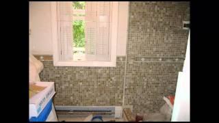 Oceanside Mosaic Glass tile Bathroom